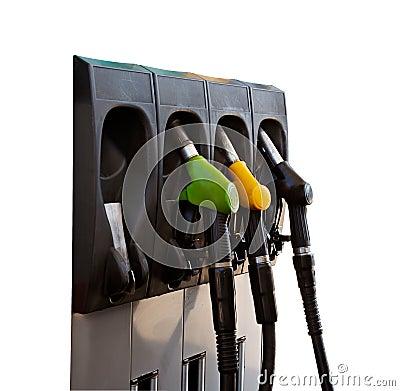 Free Three Gas Pump Nozzles Royalty Free Stock Photography - 1655057