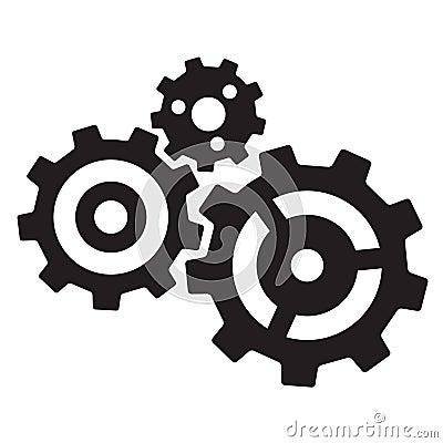 Three gears Vector Illustration