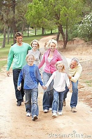 Free Three Generation Family Enjoying Walk In Park Royalty Free Stock Photo - 16827275
