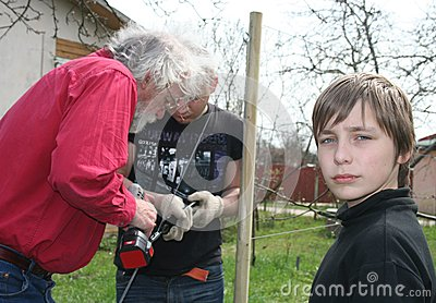 Three generations gardeners