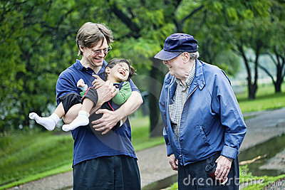 Three generations interacting together