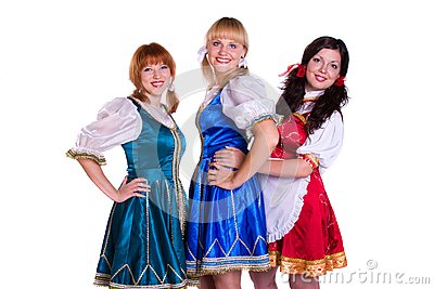 Three  German/Bavarian women