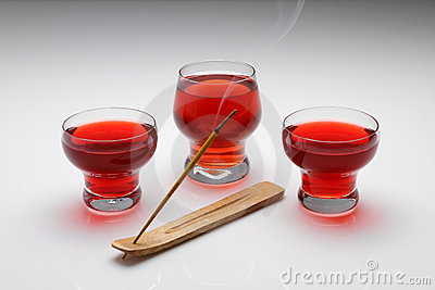 Three glass of Red tea