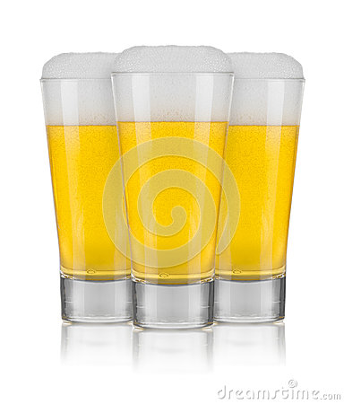 Free Three Glasses Of Beer Stock Image - 33503191