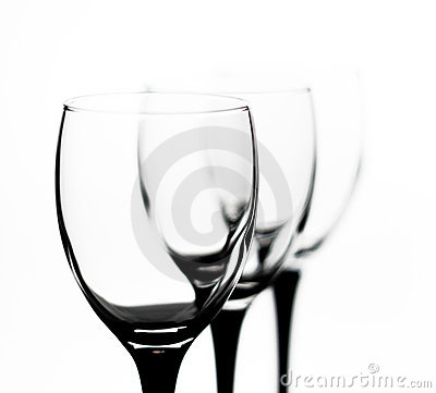 Three glasses in the outgoing term