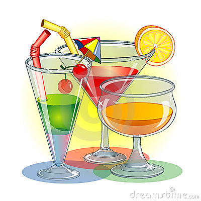 Free Three Glasses With Cocktail Stock Photography - 2413652