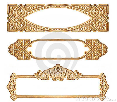 Three Golden Embossed Frames