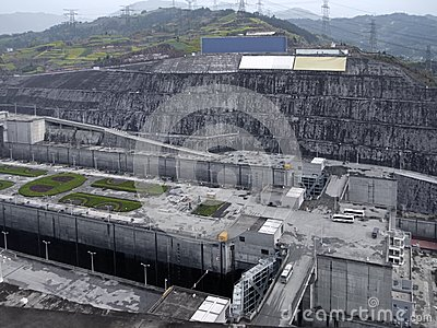 Three Gorges Dam at Yangtze River