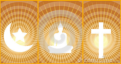 Three great religions Buddhism-Christianity-Islam