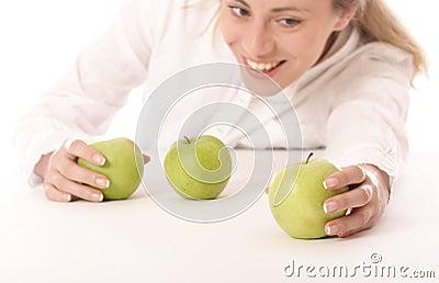 Three green apples 2