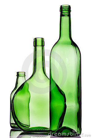 Free Three Green Bottles Stock Image - 1760471