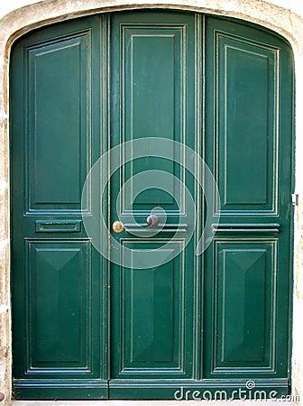 Free Three Green Door Stock Photos - 237053