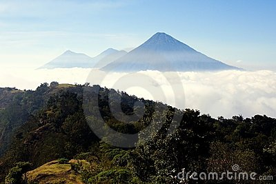Three Guatemala Volcanos