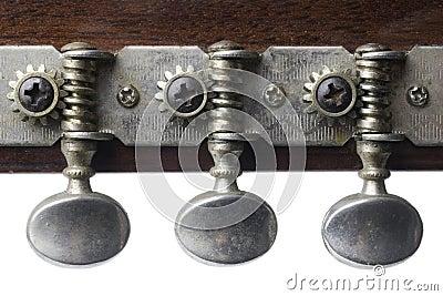 Three guitar tuning keys