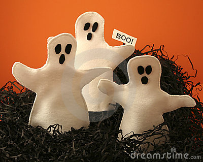 Three Halloween Ghosts
