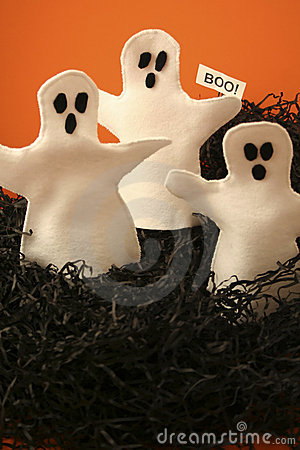 Three Halloween Ghosts