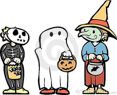 Three Halloween Kids