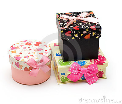 Three hand-made gift boxes