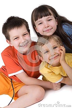 Free Three Happy Children Royalty Free Stock Photos - 2166928