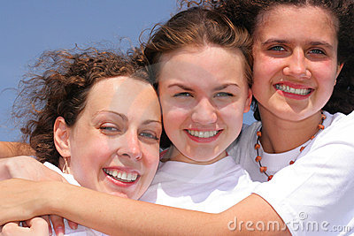 Three happy girl