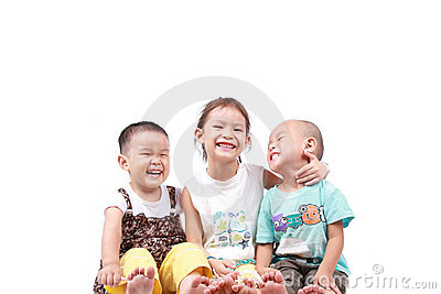 Three happy kids