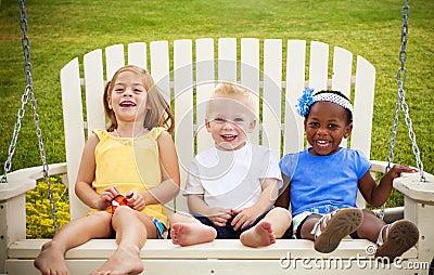 Three Happy Little Kids