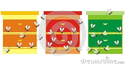 Three hives