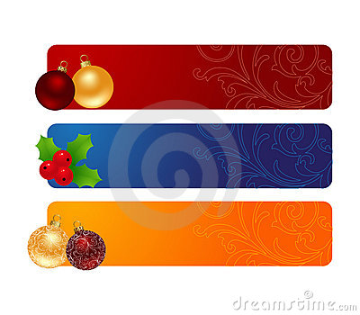 Three horizontal banners