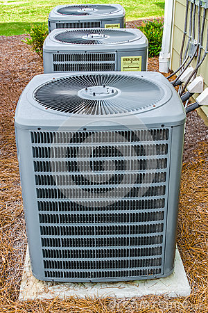 three hvac units stock photo image 42895758