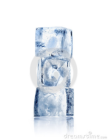 Free Three Ice Cubes Stock Images - 66880184