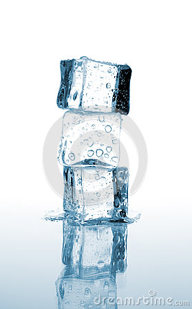 Free Three Ice Cubes Stacked Stock Images - 26758874
