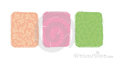 Three illustrations of flower,
