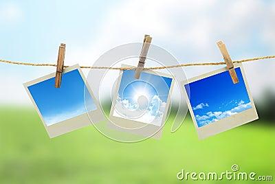 Three instant photos