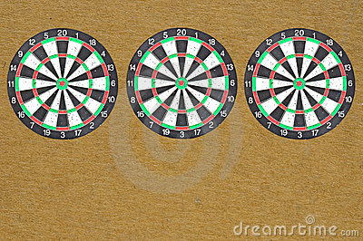 Three isolate dartboard