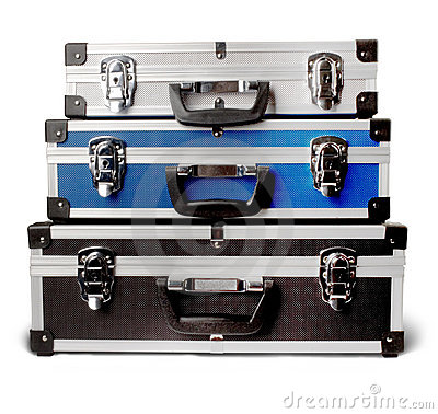 Three isolated suitcases