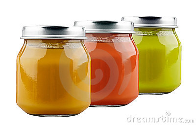 Three jars of baby food