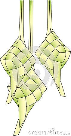Three Ketupats Isolated