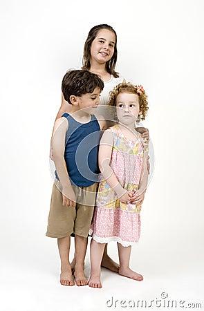 Three kids posing