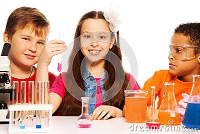 Chemistry class team