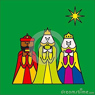 Three kings green