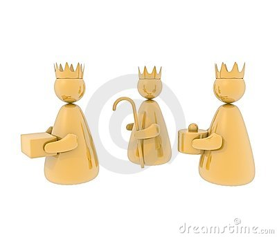 Three kings, isolated