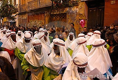 Three Kings Parade in Seville, Spain Editorial Photography