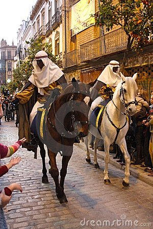 Three Kings Parade in Seville, Spain Editorial Stock Image