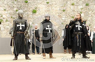 three knight Editorial Image