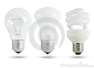 Three light bulb