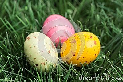 Three little easter eggs