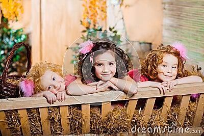 Three little girls, cute kids