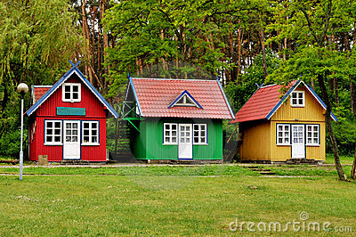 Little Houses another view of the happy little house it has a second floor with a Three Little Houses