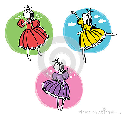 Free Three Little Princess Stock Photo - 46587930