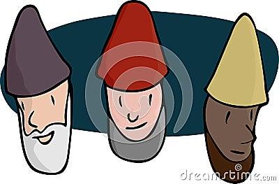 Three Male Gnomes